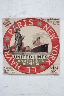 Kudde med motiv av United Lines